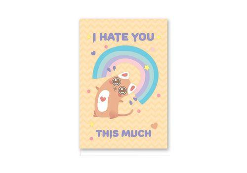 "зображення 1 - Листівка Papadesign ""I hate you this much"" 10x15"