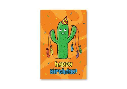 """фото 1 - Открытка Papadesign """"Happy birthday - кактус"""" 10x15"""