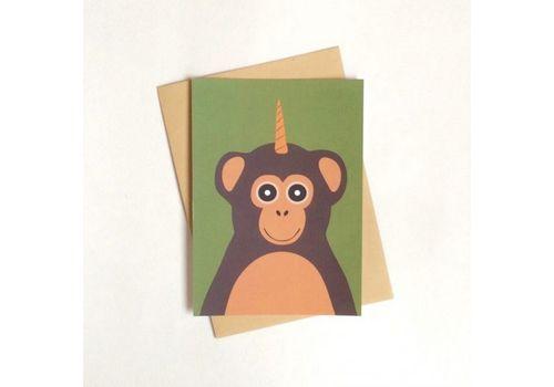 фото 1 - Листівка з мавпою 0114