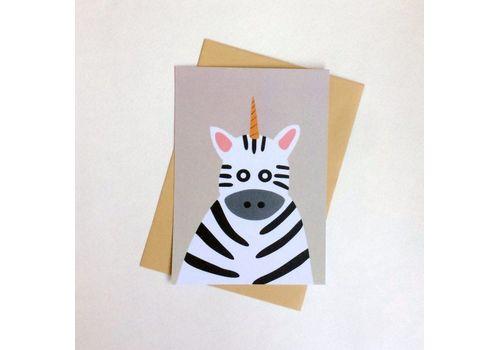 фото 1 - Листівка з зеброю