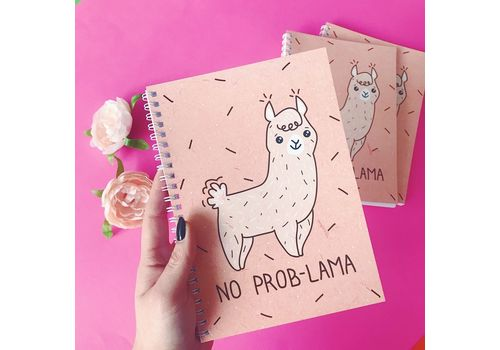 "зображення 2 - Блокнот Papadesign ""No prob-lama"" A5 21 х 15 см."