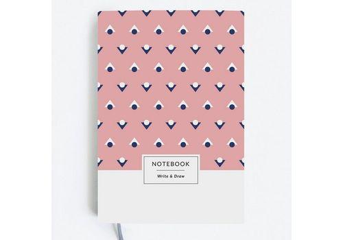 "зображення 1 - Блокнот Gifty ""Write&Draw Pink Dots"" L"