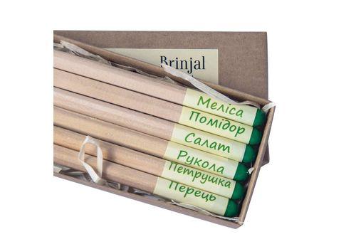"""фото 2 - Набор карандашей Brinjal """"Eco Stick"""" цветные 6 шт"""