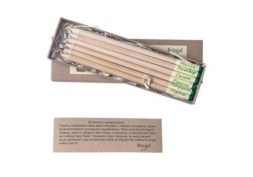 """фото 1 - Набор карандашей Brinjal """"Eco Stick"""" цветные 6 шт"""