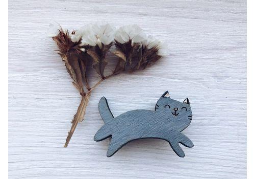 """зображення 1 - Брошка """"Сірий котик"""""""
