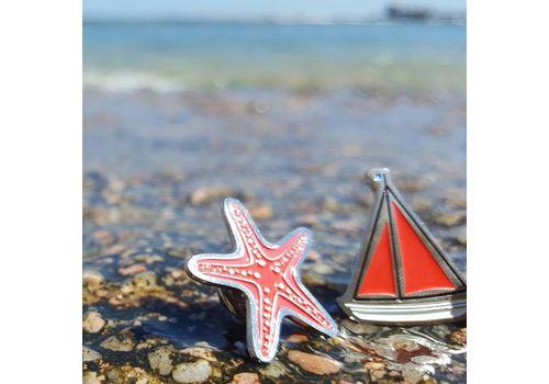 """зображення 2 - Значок """"Морська зірка"""" метал"""