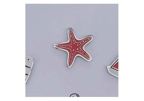 """зображення 1 - Значок """"Морська зірка"""" метал"""