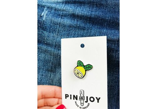 "фото 3 - Значок Pin&Joy ""Лимон"" металл"