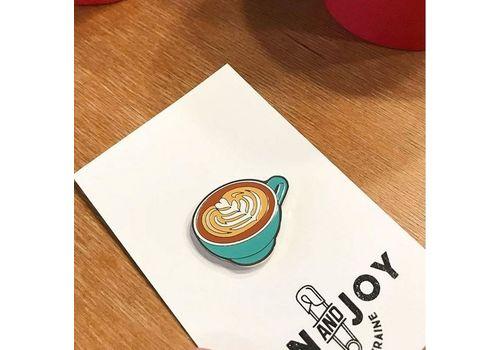 "фото 2 - Значок Pin&Joy ""Капучино"" металл"