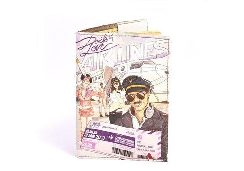 """фото 2 - Обложка на паспорт Just cover """"Авиалинии"""" 13,5 х 9,5 см"""