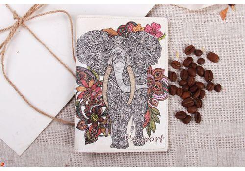 """фото 1 - Обложка на паспорт """"Слон"""""""