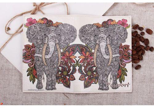 """фото 2 - Обложка на паспорт """"Слон"""""""