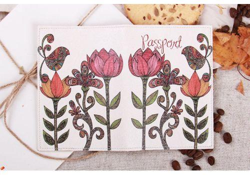 """фото 2 - Обложка на паспорт """"Три цветка"""""""