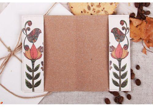 """фото 3 - Обложка на паспорт """"Три цветка"""""""