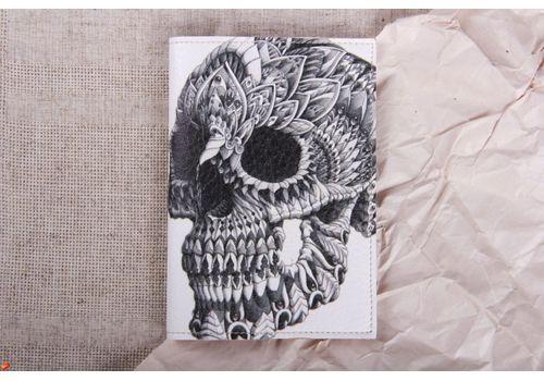 """фото 1 - Обложка на паспорт """"Череп на белом"""""""