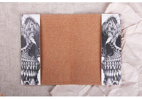 """фото 3 - Обложка на паспорт """"Череп на белом"""""""