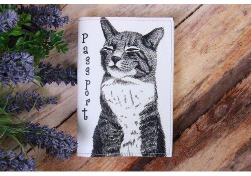 """зображення 1 - Обкладинка на паспорт """"Білий котик"""""""