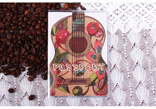 "фото 1 - Обложка на паспорт ""Гитара"" пластик"
