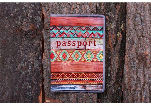 """фото 1 - Обложка на паспорт """"Узор на досках"""" пластик"""