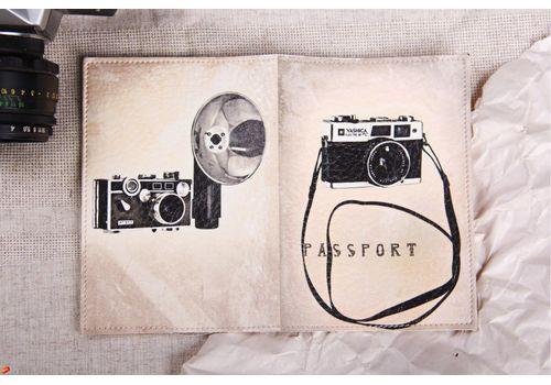 "фото 2 - Обложка на паспорт ""Фотоапарат"" эко-кожа"