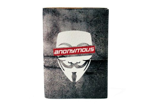 "фото 2 - Обложка на паспорт Just cover ""Anonymous"" 13,5 х 9,5 см"