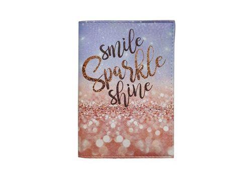 "зображення 2 - Обкладинка на паспорт Just cover ""Smile, Sparkle, Shine"" 13,5 х 9,5 см"