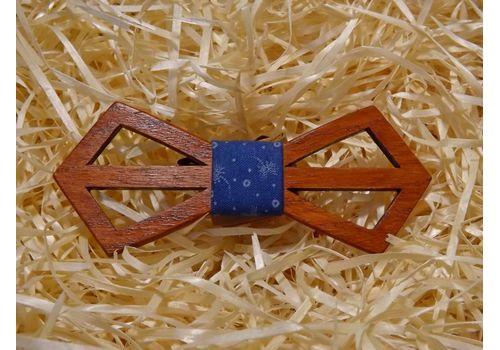 """зображення 1 - Дерев'яний метелик """"Ретро різьблений, синій з кульбабами"""""""