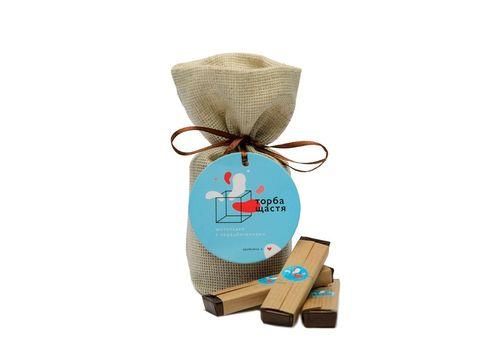 зображення 3 - Шоколадки з передбаченнями Торба щастя (чорний шоколад з солоною карамеллю)