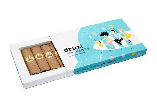 """фото 2 - Шоколадный набор Happy Bag """"Druzi"""" черный шоколад"""