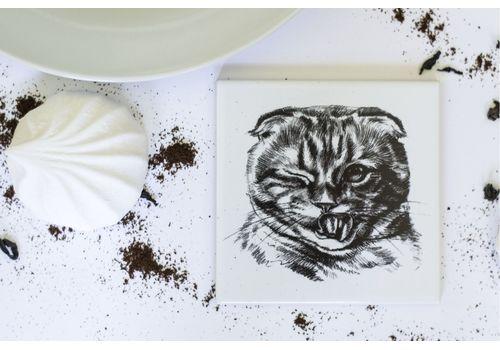 """зображення 1 - Подставка  Carambol-shop """"Кот вислоушка"""" 10x10"""