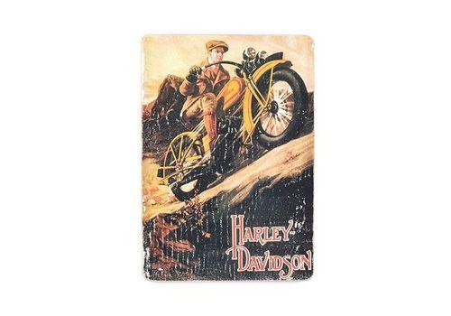 фото 1 - pvm0057 Постер Harley Davidson vintage bike