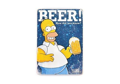 фото 1 - Постер The Simpsons #1 BEER! Wood Poster
