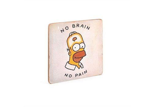 зображення 2 - Постер The Simpsons #12 No Brain Wood Posters 200 мм 200 мм 8 мм
