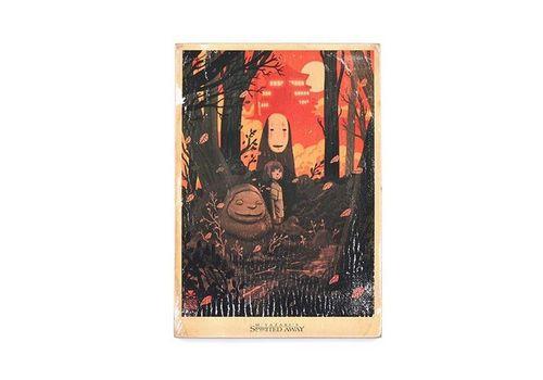 зображення 1 - Постер Spirited Away #2 vintage Wood Posters 200 мм 285 мм 8 мм