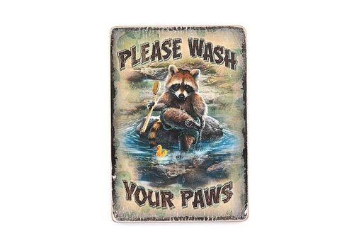 "зображення 1 - Постер ""Please Wash Your Paws"""