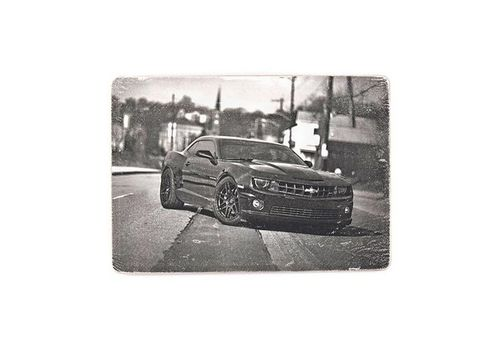 "зображення 1 - Постер ""Chevrolet Camaro black and white"""