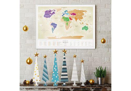 """зображення 4 - Скретч-карта 1DEA.me """"Travel map Gold world"""" ukr (80*60см)"""