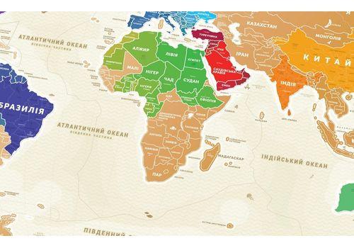 """зображення 7 - Скретч-карта 1DEA.me """"Travel map Gold world"""" ukr (80*60см)"""