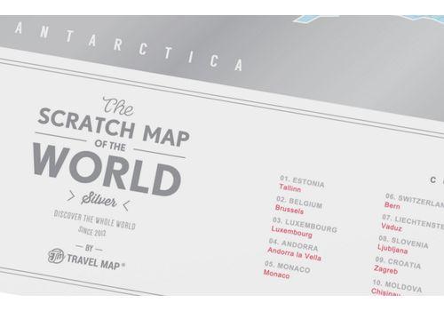 "фото 3 - Скретч-карта 1DEA.me ""Travel map Silver world""eng (60*80cм)"