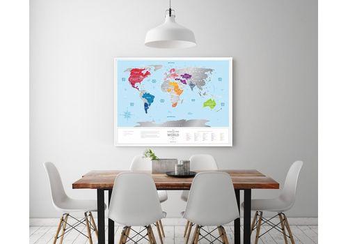 "фото 2 - Скретч-карта 1DEA.me ""Travel map Silver world""eng (60*80cм)"