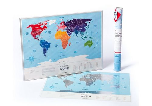 "фото 1 - Скретч-карта 1DEA.me ""Travel map Silver world""eng (60*80cм)"