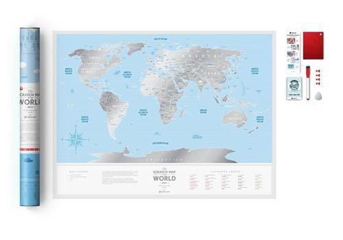 "фото 4 - Скретч-карта 1DEA.me ""Travel map Silver world""eng (60*80cм)"