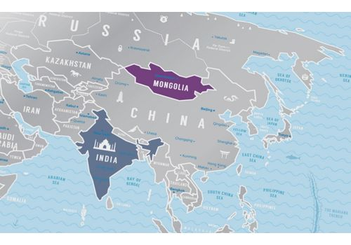 "фото 7 - Скретч-карта 1DEA.me ""Travel map Silver world""eng (60*80cм)"