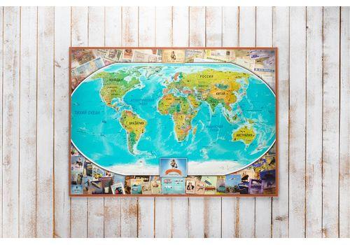 зображення 3 - Скретч карта світу на російській мові в ретро стилі Набір Vintage RU 88х63