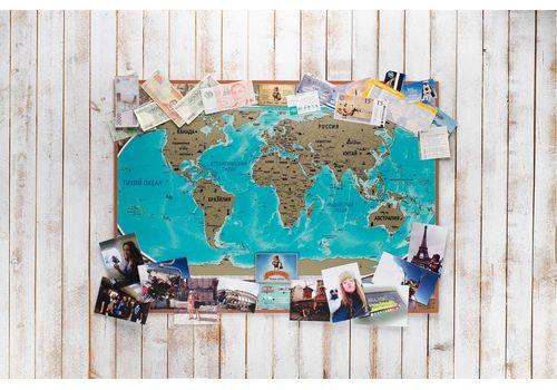 зображення 4 - Скретч карта світу на російській мові в ретро стилі Набір Vintage RU 88х63