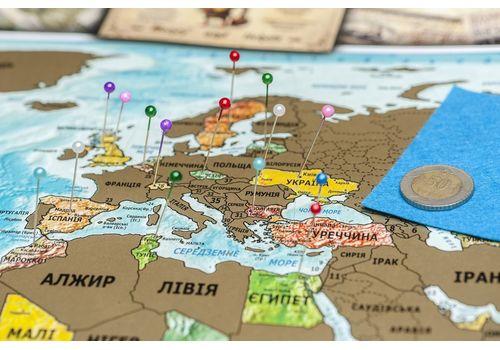 зображення 7 - Скретч карта світу на російській мові в ретро стилі Набір Vintage RU 88х63