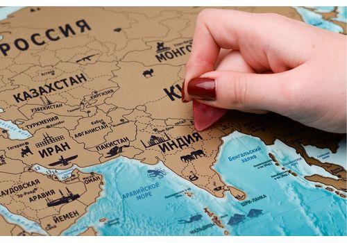 зображення 8 - Скретч карта світу на російській мові в ретро стилі Набір Vintage RU 88х63