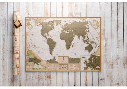 зображення 2 - Скретч карта світу в античному стилі Набір Antique 88х60