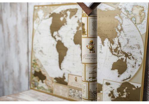 зображення 4 - Скретч карта світу в античному стилі Набір Antique 88х60