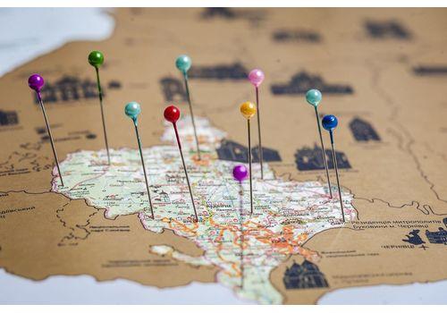 зображення 7 - Детальна карта України на українській мові Набір Native 68х47
